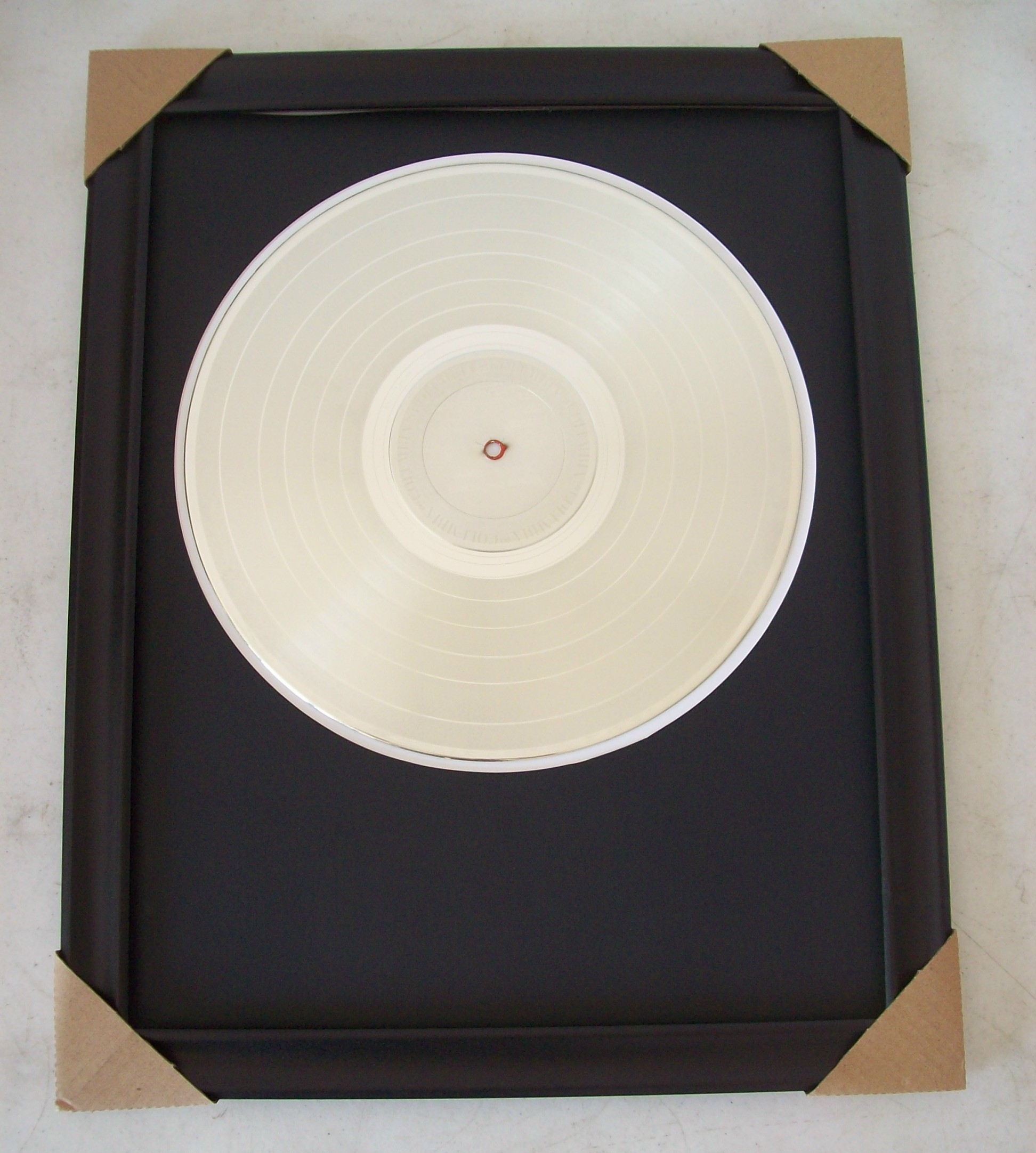 Image for Blank Platinum LP Album Custom Award Trophy