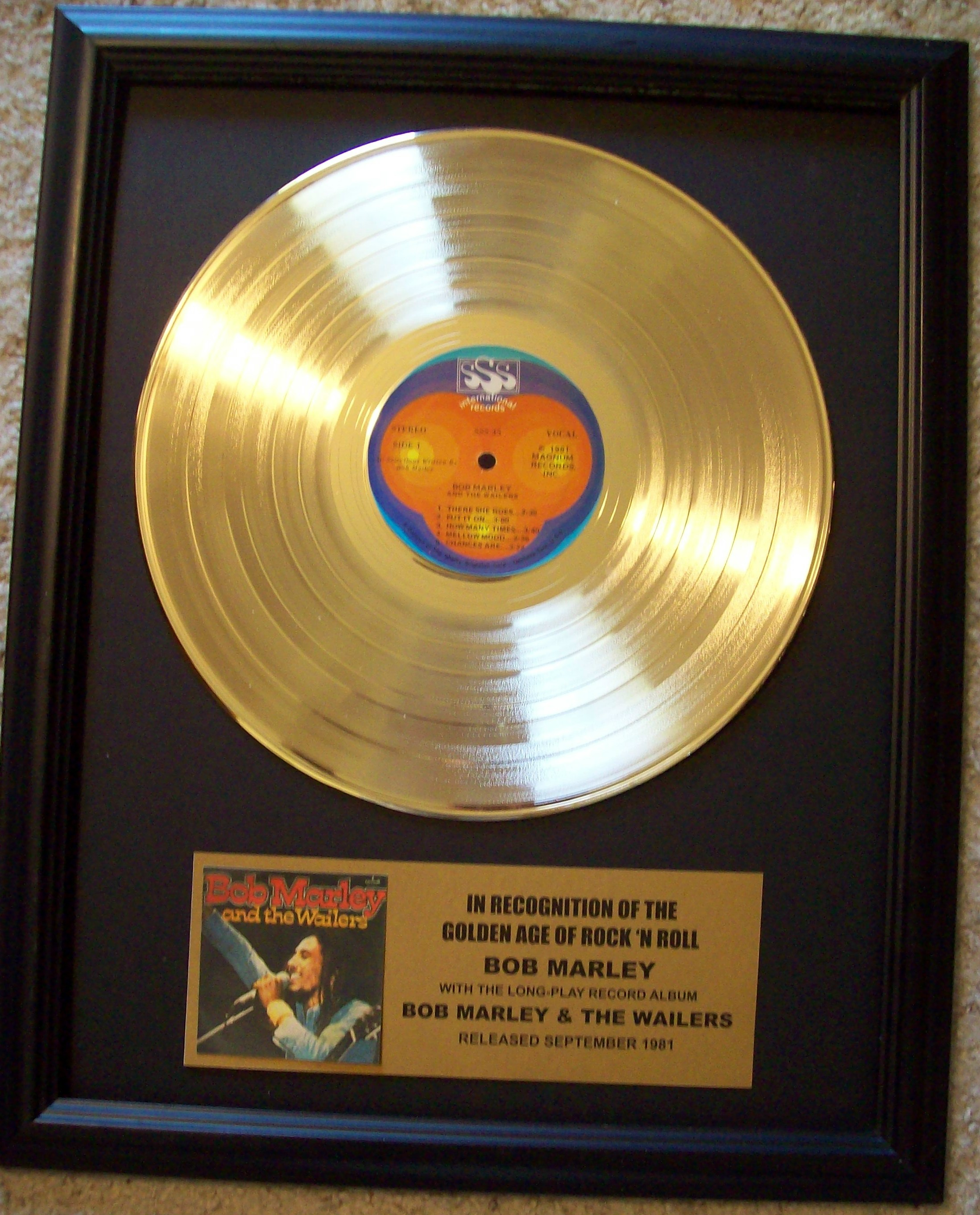 Image for Bob Marley and the Wailers Gold Record