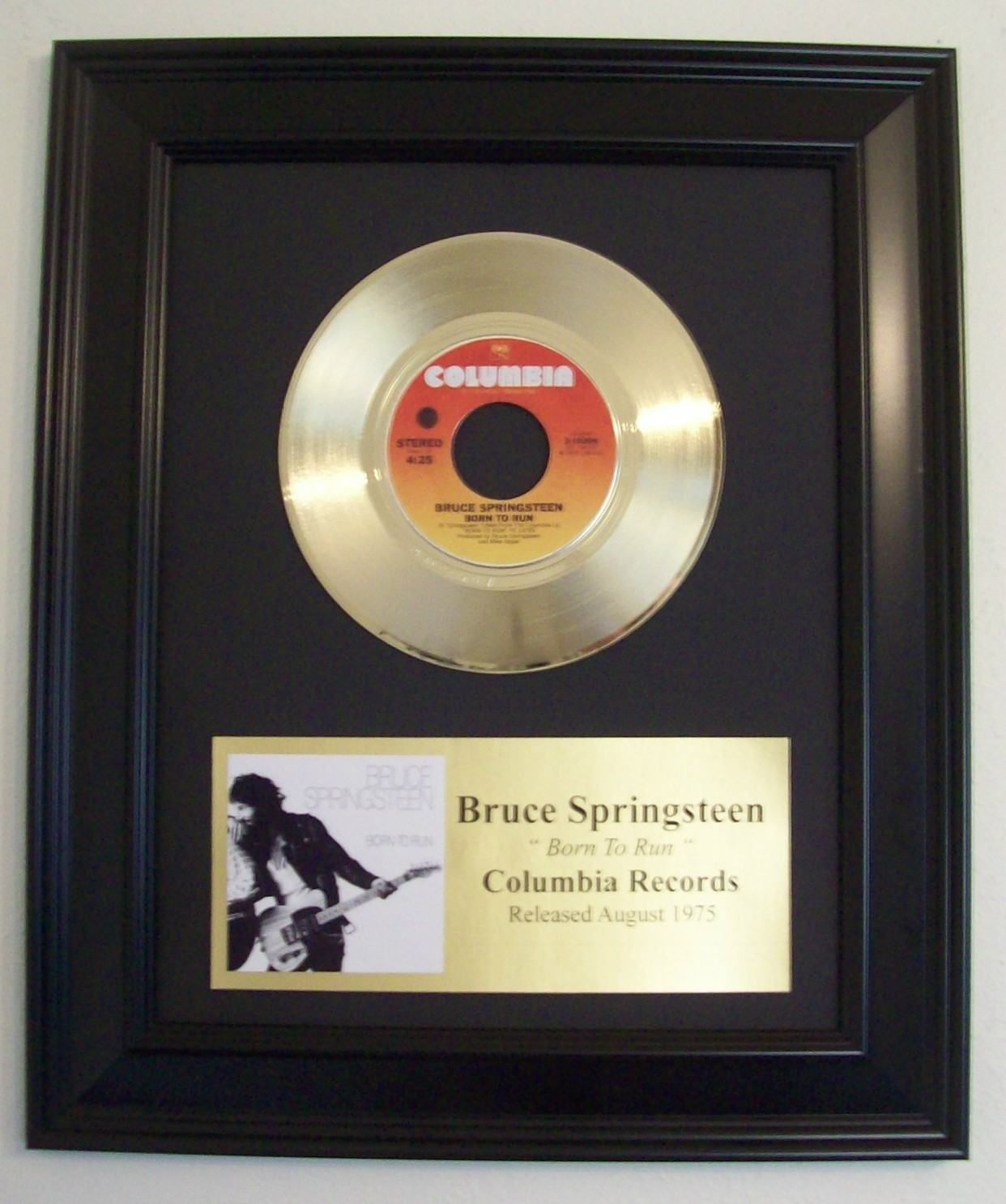 Image for Born To Run - 45 w/Plaque