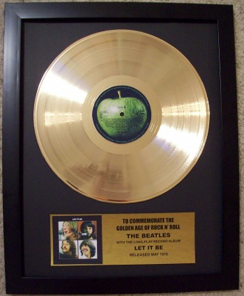 Image for The Beatles Let It Be LP Gold Record