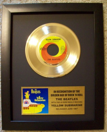 Image for The Beatles Yellow Submarine 45rpm Gold Record