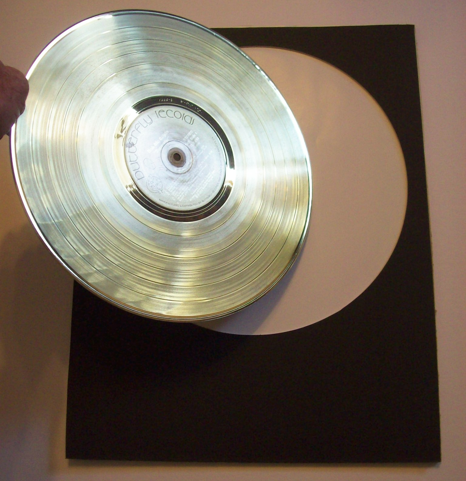 Image for Blank Framed Gold Record Custom Award or Trophy