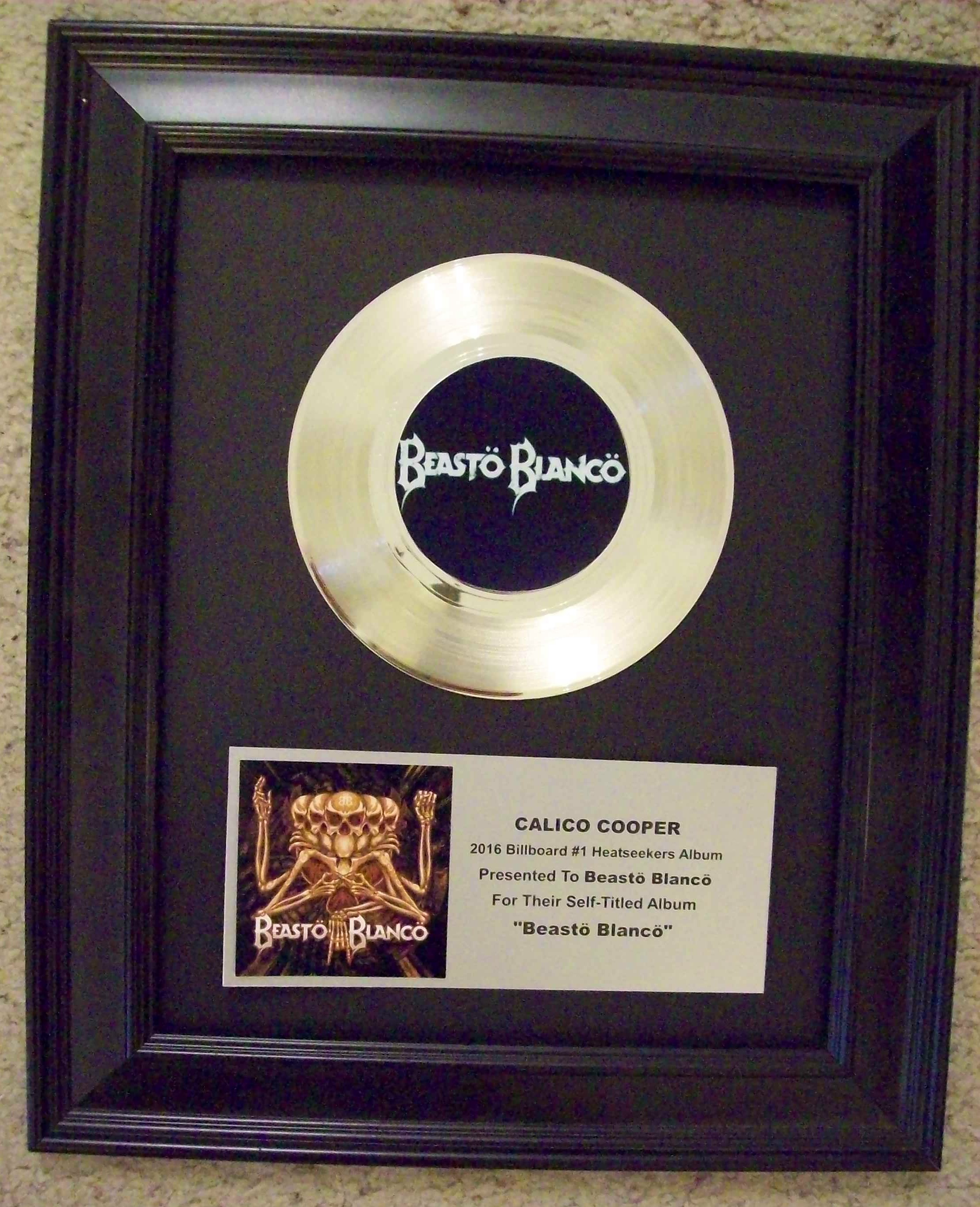"Image for Custom Platinum 45 7"" Record Award/Trophy"