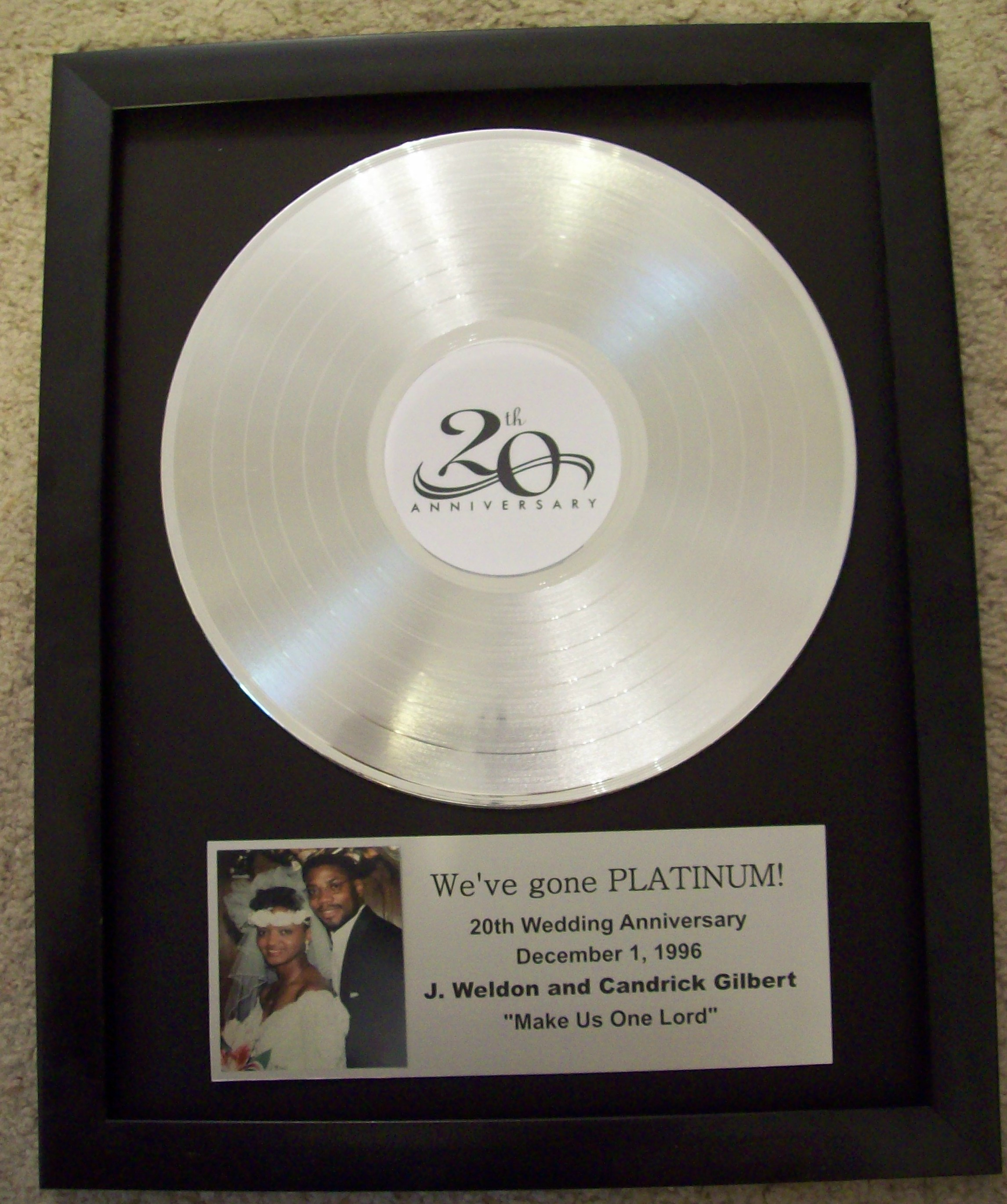Image for Custom Platinum LP Record Award/Trophy