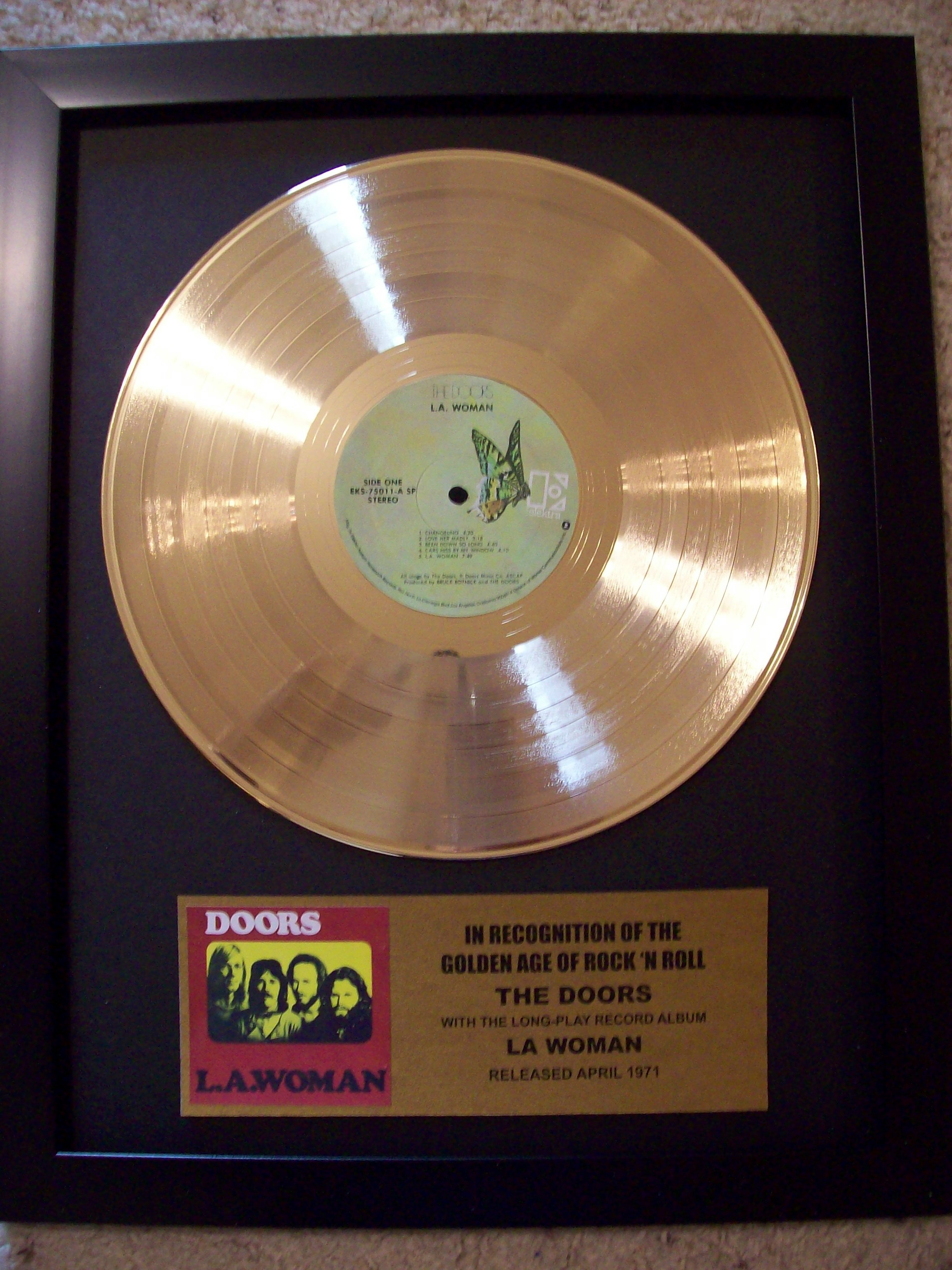 Image for The Doors LA Woman Gold Record Album