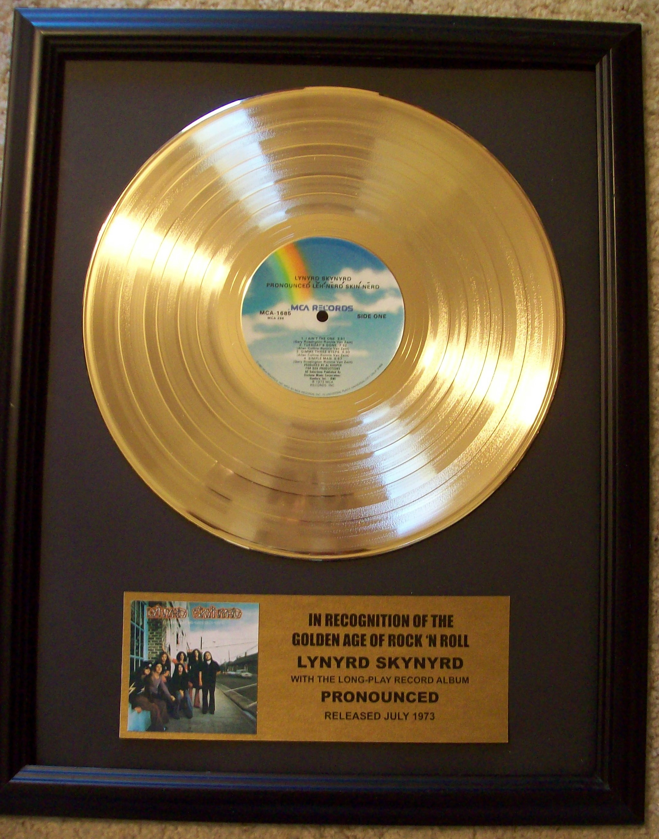 Image for Lynyrd Skynyrd Pronounced Gold Record