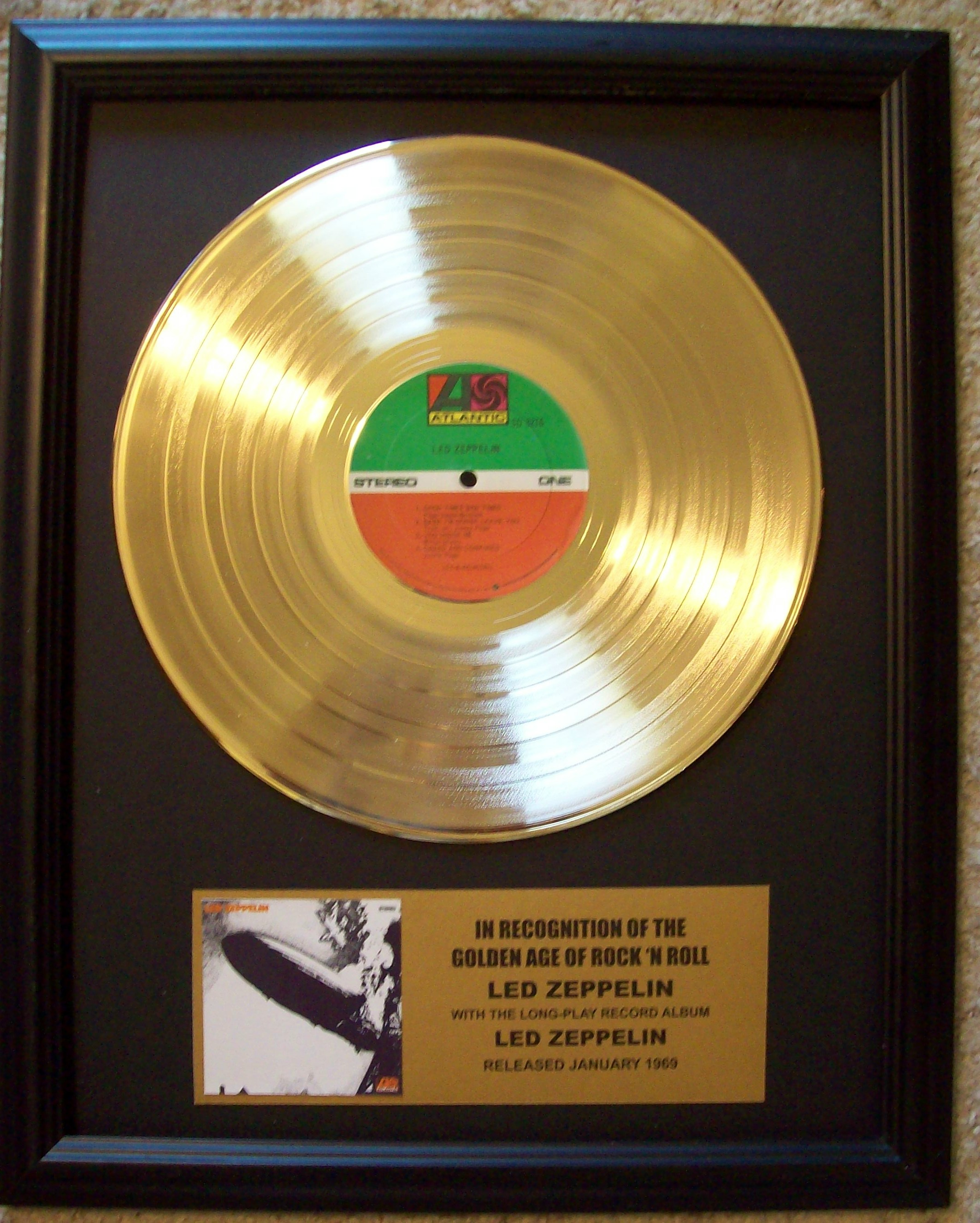 Image for Led Zeppelin (First Album) Gold LP Record
