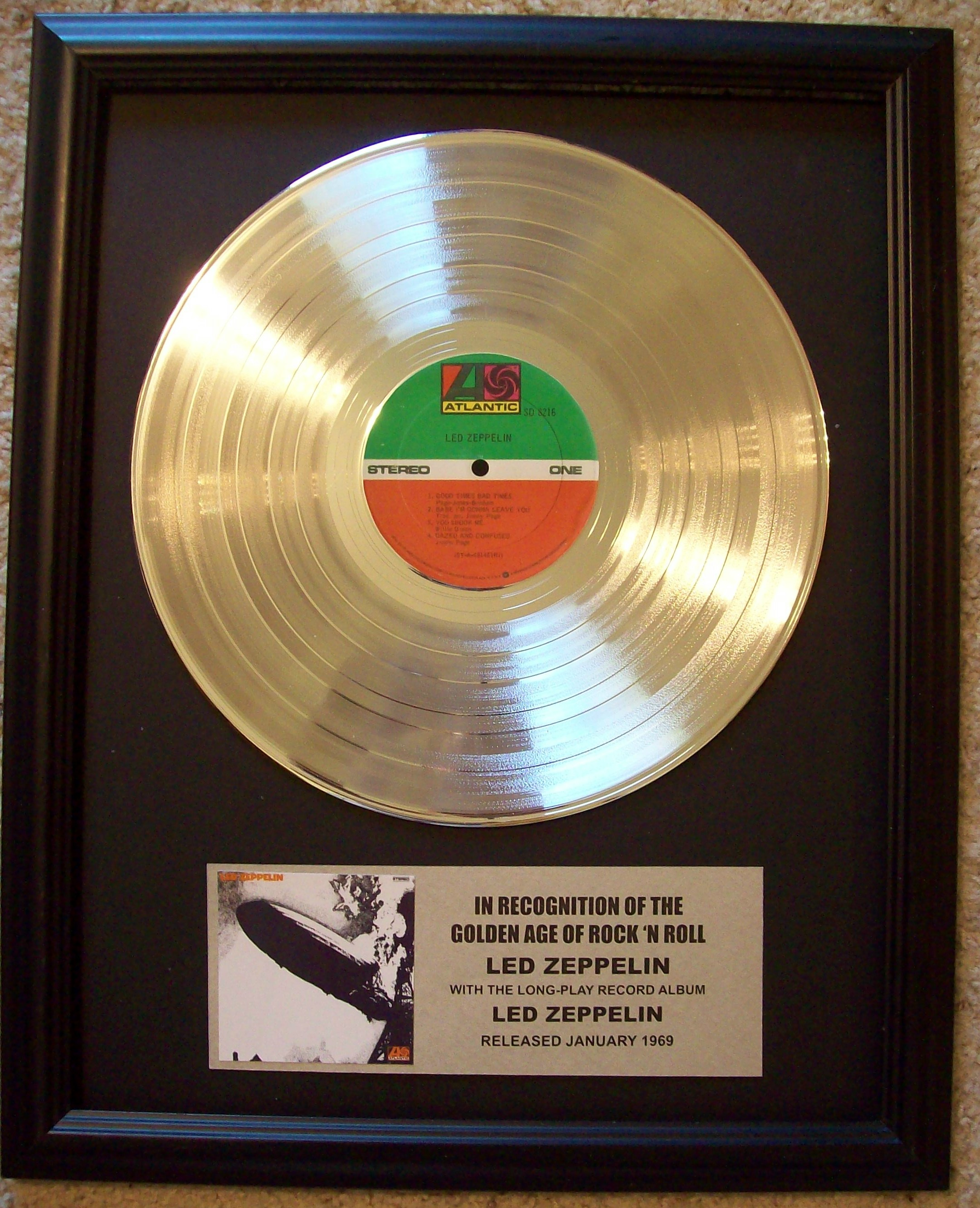 Image for Led Zeppelin (First Album) Platinum Record