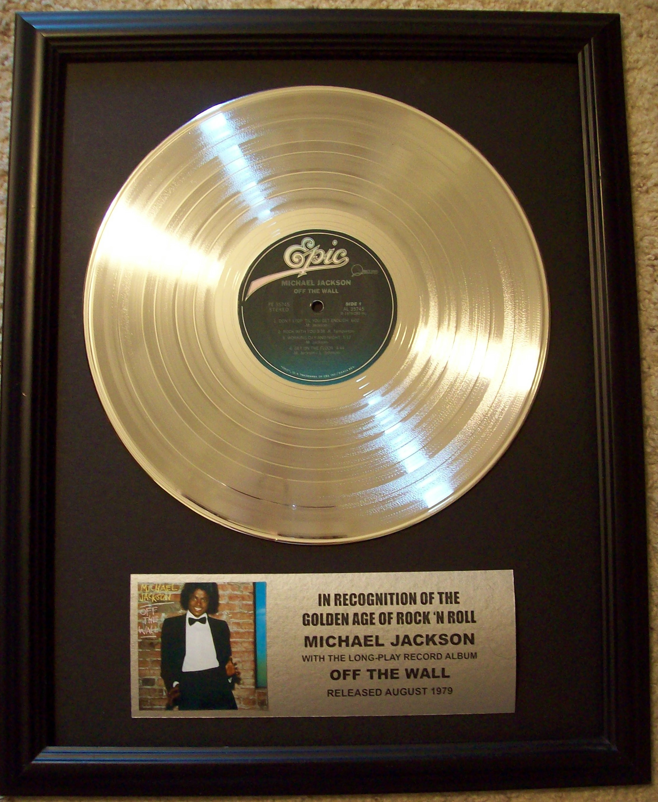 Image for Michael Jackson Off The Wall Platinum LP Record Album