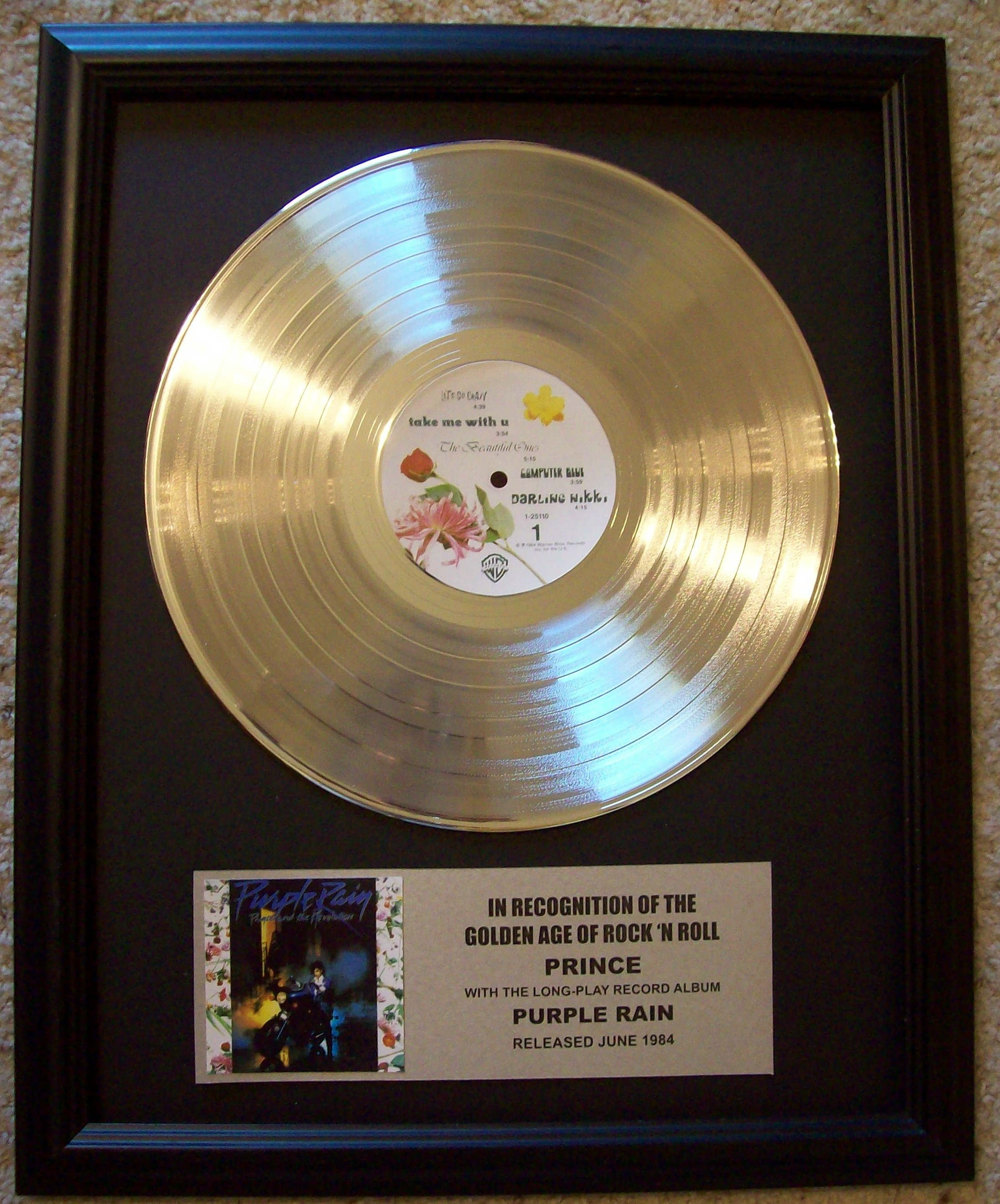 Image for Prince Purple Rain Platinum LP Record