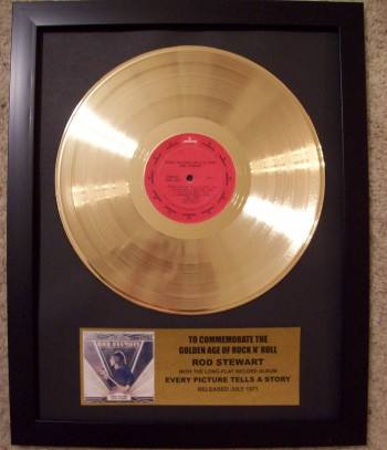 "Image for Rod Stewart ""Every Picture Tells A Story"" Gold LP Record"