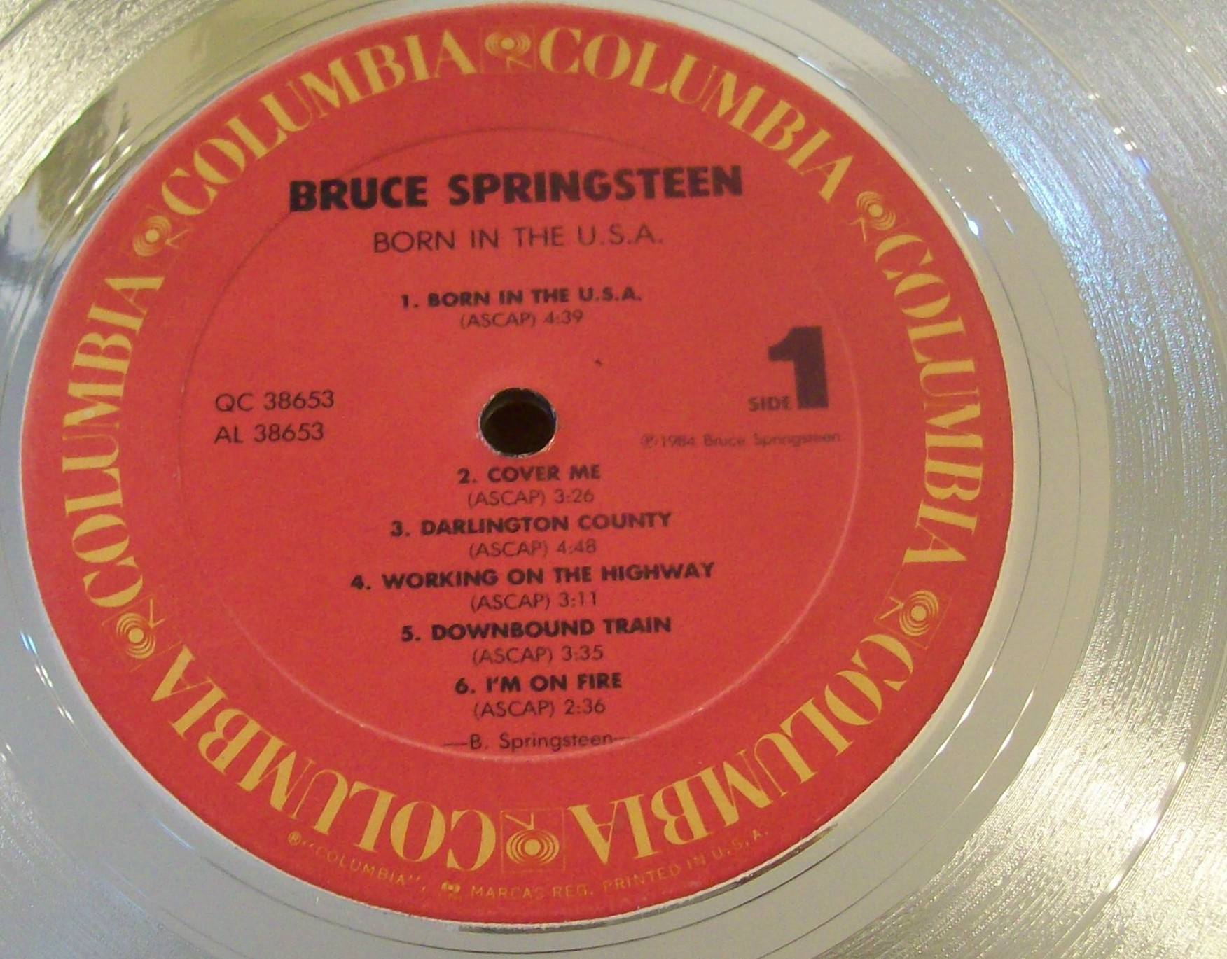 Image for Bruce Springsteen Born in the USA Platinum Record