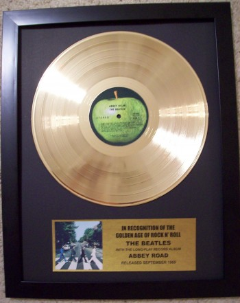"Image for Beatles ""Abbey Road"" Gold LP Record"